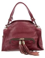 Sandro Tassel-Embellished Pebbled Leather Satchel