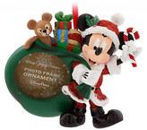 Disney Santa Mickey Mouse Photo Frame Ornament