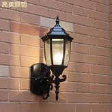 wall lamp GYY Outdoor weather-resistant led wall lamp balcony aisle staircase outdoor patio bar minimalist retro aluminum wall lights