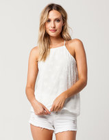 Socialite Star Embossed Womens Tank