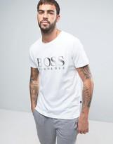 Boss Black By Hugo Boss Large Logo T-shirt In Regular Fit