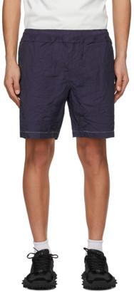 Ader Error Purple Distressed Shorts