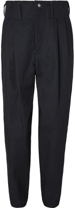 Nicholas Daley Tapered Pleated Basketweave Cotton Trousers