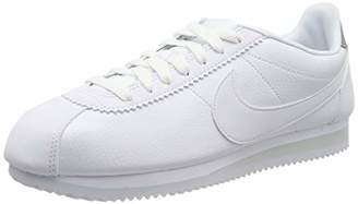 Nike Men's Classic Cortez Leather Running Shoes, White (White/Pure Platinum 101)