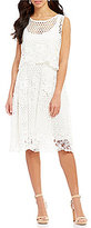 Eva Franco Baba Lace Popover Midi Dress