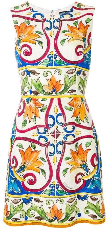 Dolce & Gabbana Abito tile print dress
