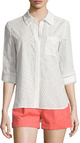 Diane von Furstenberg Lorelei Two Cotton Eyelet Top, Ivory