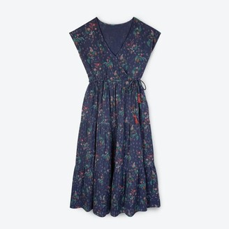 Lowie Blue Floral Tiered Maxi Dress - S