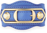 Balenciaga Metallic Edge Leather Belt-Style Bracelet