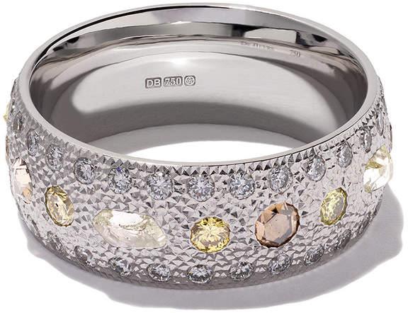 De Beers 18kt white gold Talisman diamond band