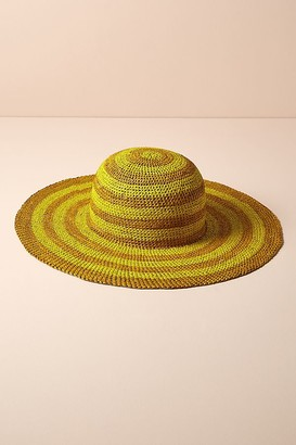 Hanya Striped-Raffia Floppy Hat