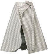Adeam - midi wrap skirt - women - Cotton/Acrylic/Polyester/other fibers - 2