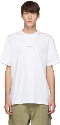 Oamc White Hi How Are You T-Shirt