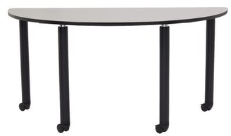 """Stand Teachers 60"""" x 36"""" Half-Circle Activity Table National Public Seating"""
