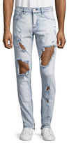 Embellish Bullet Distressed Skinny Jeans