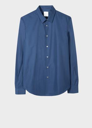 Paul Smith Men's Slim-Fit Navy Cotton-Silk Blend Shirt