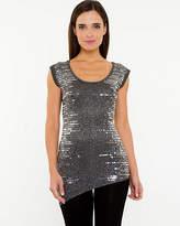 Le Château Metallic Scoop Neck Sweater
