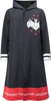 Undercover slogan graphic print hooded coat