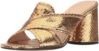 Marc Jacobs Women's Aurora Mule Slide Sandal Gold 40.5 M EU (10.5 US)