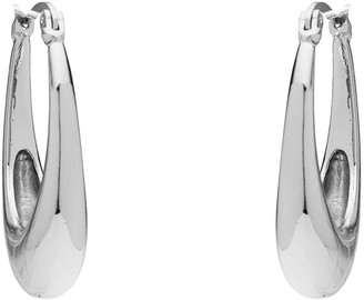 Barcs POLISHED OVAL HOOP EARRINGS