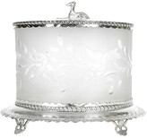 One Kings Lane Vintage Antique Cut-Crystal Footed Canister - La Maison Supreme - silver/clear