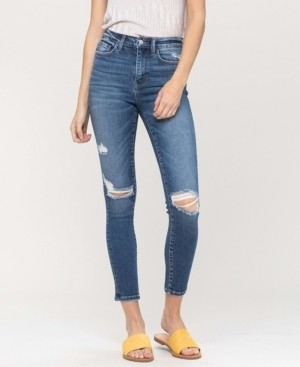 VERVET Women's High Rise Distressed Ankle Skinny Jeans