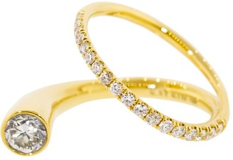 KatKim Grande Crescendo Diamond Flare Ring