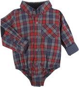 Andy & Evan Long-Sleeve Flannel Check ShirtzieTM, Red, Size 3-24 Months