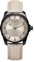 Calvin Klein Collection Grain Calf Strap Stainless Steel Automatic Watch