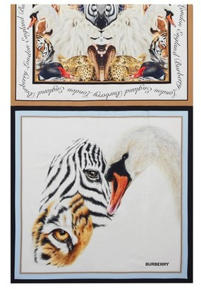 Burberry Animals print silk scarf