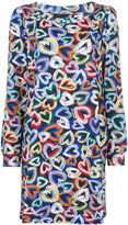 Love Moschino hearts print dress - women - Cotton/Spandex/Elastane - 38