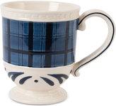Fitz & Floyd Stoneware Bristol Indigo Tartan Mug