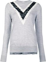 ADAM by Adam Lippes lace inset jumper - women - Merino - L