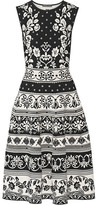 Alexander McQueen Stretch Jacquard-knit Dress - Black