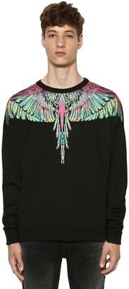 Marcelo Burlon County of Milan Wings Wool Blend Knit Sweater