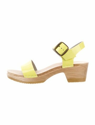 NO.6 STORE Patent Leather Slingback Sandals Yellow