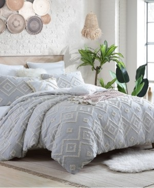 Swift Home Astonishing Rukai Clip Jacquard Gauze 5 Piece Comforter Set, King/California King Bedding