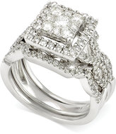 Macy's Diamond Bridal Set (1-1/3 ct. t.w.) in 14k White Gold