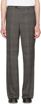 Maison Margiela Grey Plaid Full Leg Trousers