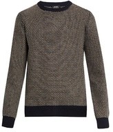 A.p.c. Pull Serges Intarsia-knit Wool-blend Sweater