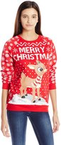 Freeze Merry Chritma Rudolph Ugly Holidayweathirt for women (mall)