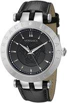 Versace Men's VQP020015 V-Race Analog Display Quartz Black Watch