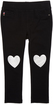 Vigoss Black Heart Knee Foil Jeans - Toddler & Girls