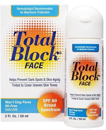 Total Block Fallene Complete Full Spectrum Sun Protection Tinted