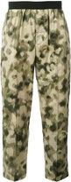 Emiliano Rinaldi camouflage cropped trousers - men - Cotton/Polyurethane - 48