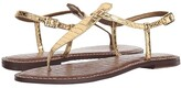 Sam Edelman Gigi (Gold Boa Print) Women's Sandals