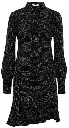 Derek Lam 10 Crosby Asymmetric Printed Silk-jacquard Mini Dress
