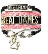 Generic Braided Great Danes Bracelet Best Friend Dog Paw Charm