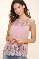 BB Dakota Yasmine Blush Pink Lace Sleeveless Top
