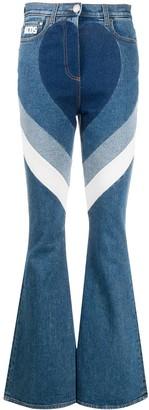 GCDS Stripe Flared Jeans